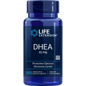 DHEA 25mg - 100 Tablets Sublingual