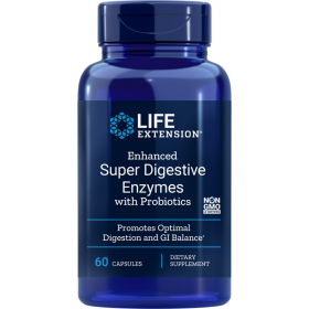 Enhanced Super Digestive Enzymes and Probiotics - 60 Vegetarian Capsules